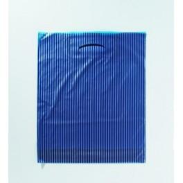 Poly Streifen blau